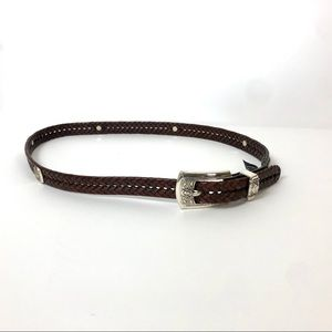 Brighton Brown Leather Belt Size XL